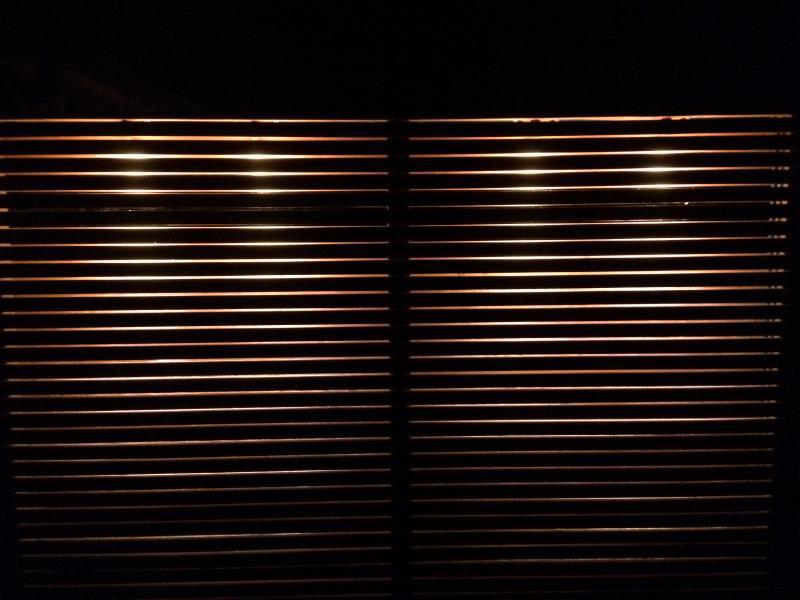 Douglashouten latwerken met verlichting