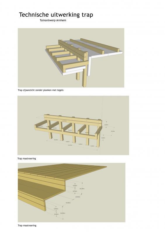 Technische-tekening-trap-Tuinontwerp-Arnhem