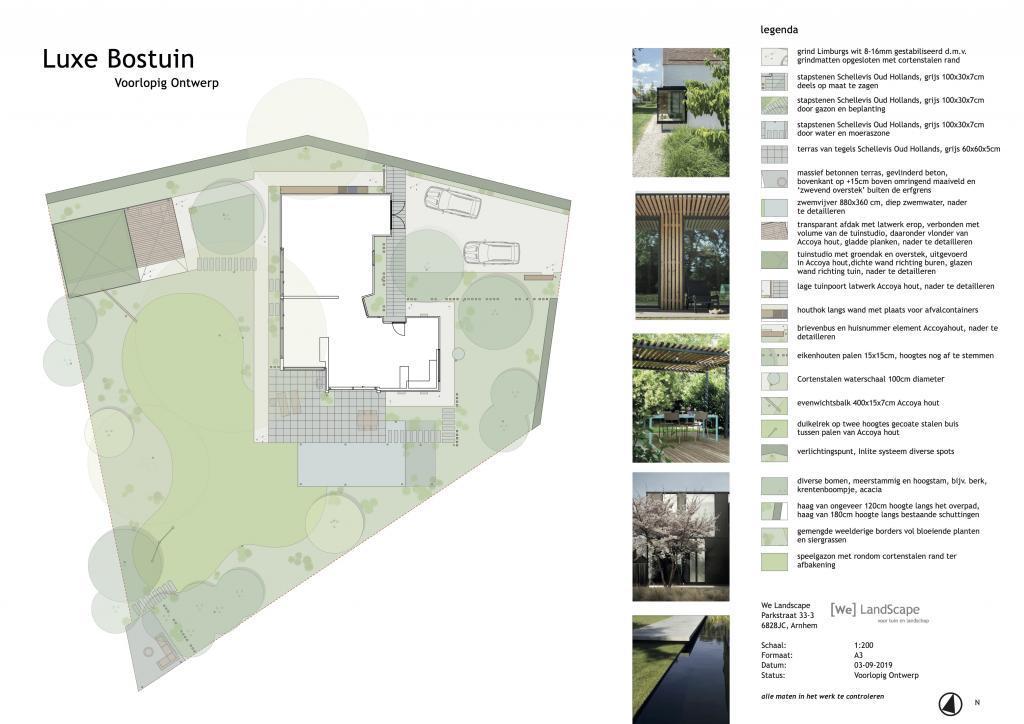 Voorlopig ontwerp luxe bostuin